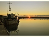 Alba al porto di Saline Joniche