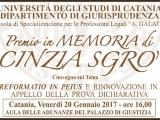 Premio 2017 in memoria di Cinzia Sgrò