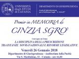 Premio 2018 in memoria di Cinzia Sgrò