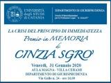 Premio 2020 in memoria di Cinzia Sgrò